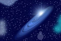 Spiral sun light galaxy Stock Image