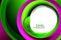 Spiral swirl flowing lines 3d effect abstract background. Vector digital business or techno motion template stock illustration