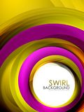 Spiral swirl flowing lines 3d effect abstract background. Vector digital business or techno motion template Stock Image