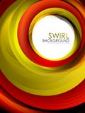 Spiral swirl flowing lines 3d effect abstract background. Vector digital business or techno motion template Royalty Free Stock Photo