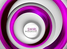 Spiral swirl flowing lines 3d vector abstract digital motion background design. Rotating concept. Vector illustration royalty free illustration