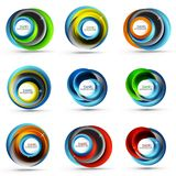 Spiral swirl flowing lines 3d vector abstract icon collection. Spiral swirl flowing lines 3d vector icon collection. Vector illustration Stock Image