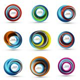 Spiral swirl flowing lines 3d vector abstract icon collection. Spiral swirl flowing lines 3d vector icon collection. Vector illustration Royalty Free Stock Photo