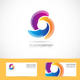 Spiral swirl rotation logo Royalty Free Stock Photos