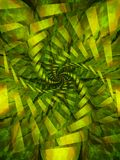 Spiral Swirl Texture in Green and Yellow stock images