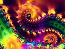 Spiral Swirls Fractal Texture. Spiral fractal art image takes you into a mysterious world of abstract shapes, colors, and elements. Ideal as a background, layer stock photos