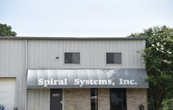 Spiral Systems, Inc, Nesbit, Mississippi. Spiral Systems, Inc, in Nesbit, Mississippi is a sheet metal fabricator and contractor service, specializing in all royalty free stock image