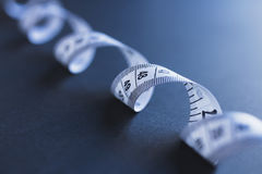 Spiral tape measure Stock Photos