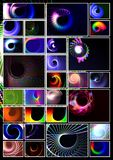 Spiral technology background Stock Image