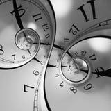 spiral tid vektor illustrationer