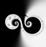 spiral tid stock illustrationer