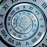 spiral tid för siffror stock illustrationer