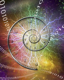 Spiral of time Stock Images