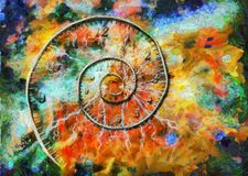 Spiral of time Stock Image