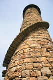 Spiral Tower. A very unusual chimney tower with spiral staircase on the outside and broken half way up.. Located in the Dublin mountains it was part of a Stock Images