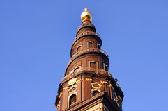 Spiral tower in Copenhagen Stock Image