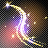 Spiral trail shooting star vector christmas background. Stock Photography