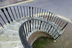 spiral trappa royaltyfria bilder