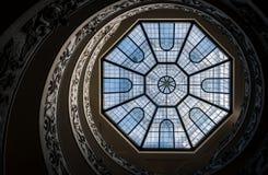 Spiral trappa av Vaticanenmuseerna Royaltyfri Foto