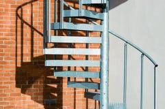 spiral trappa för metall Royaltyfria Bilder