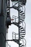 spiral trappa för metall Royaltyfri Fotografi