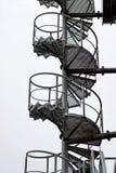 spiral trappa för metall Fotografering för Bildbyråer