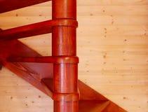 Spiral trappa från inre Arkivbild