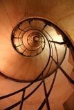 spiral trappa för fall Arkivfoton