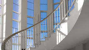 spiral trappa Frontal punkt av sikten Arkivfoton