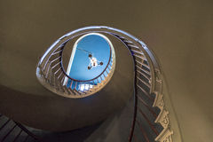 Spiral trappa till övresovrum Royaltyfria Foton