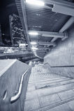 spiral trappuppgång Arkivfoto