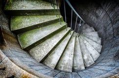 spiral trappuppgång Arkivfoton