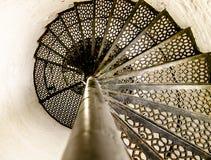 spiral trappuppgång Royaltyfri Bild