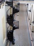 spiral trappuppgång för metall royaltyfri foto