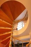 spiral trappuppgången Arkivbilder