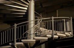 spiral trappuppgången Arkivbild