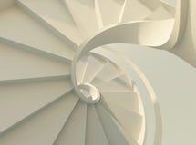 spiral trappuppgångwhite Arkivbild