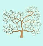 spiral tree Arkivfoton