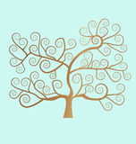 Spiral tree. Background with Spiral tree illustration Stock Photos