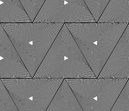 Spiral triangles geometric seamlessly repeatable abstract monoch. Rome pattern. - Royalty free vector illustration Stock Photos