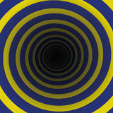 Spiral Tunnel Blue Yellow Motion Royalty Free Stock Photo
