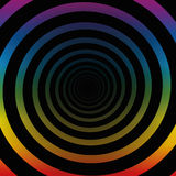 Spiral Tunnel Rainbow Colors Three Dimensional Stock Images