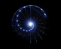 Spiral universe. Space fantasy, imaginary star chart, abstract  background Royalty Free Stock Photos