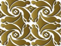 Spiral V för guld för modell för sömlös lättnadsskulpturgarnering retro vektor illustrationer
