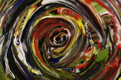 Spiral. Of various colors in tempera Stock Images