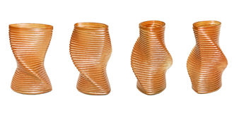 Spiral vases Royalty Free Stock Photography