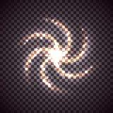 Spiral vektorgalax Arkivbilder