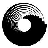 Spiral virvelbeståndsdelar Virvel piruettform på vit vektor illustrationer
