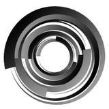 Spiral virvelbeståndsdelar Virvel piruettform på vit stock illustrationer