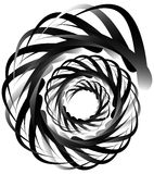Spiral volute, snail shape, element. Rotating, twirling abstract Royalty Free Stock Photography